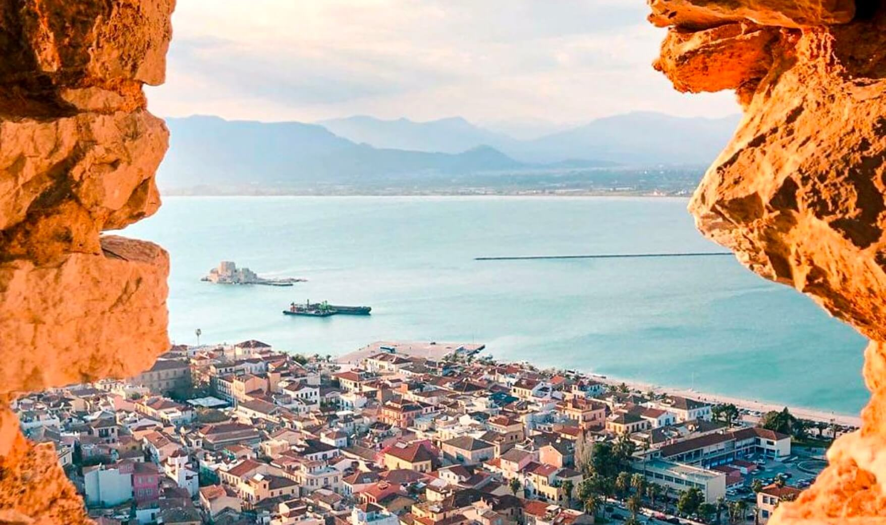 Peering over the city of Nafplio